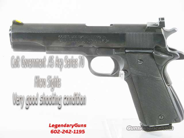Colt Government Series 70 Blue With Micro Sights   Guns > Pistols > Colt Automatic Pistols (1911 & Var)