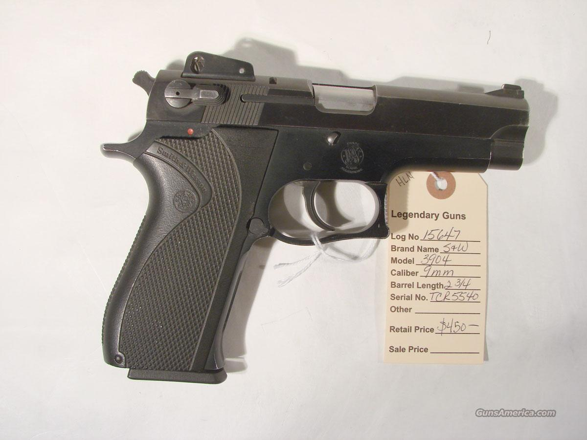 S&W Model 3904 9mm  Guns > Pistols > Smith & Wesson Pistols - Autos > Steel Frame