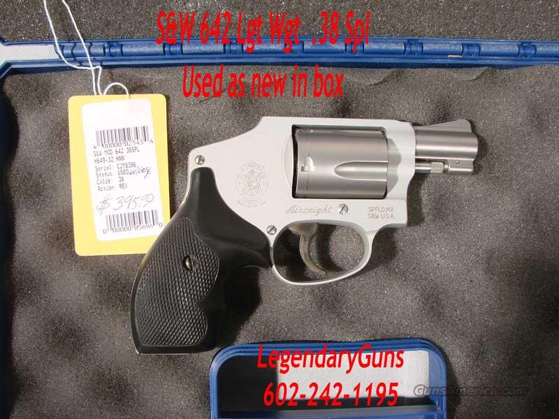 S&W Model 642 .38 Spl Lightweight  Guns > Pistols > Smith & Wesson Revolvers > Pocket Pistols