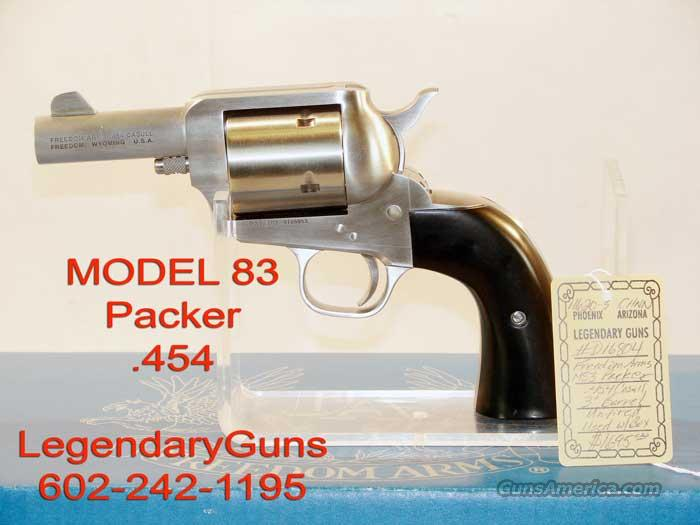 Freedom Arms .454 Packer 3 inch BBL  Guns > Pistols > Freedom Arms Pistols