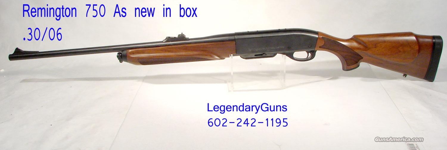 Remington Model 750 Semi Auto 30-06  Guns > Rifles > Remington Rifles - Modern > Other
