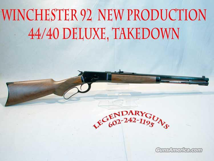 Winchester 92 44/40 DLX  Take Down   Guns > Rifles > Winchester Rifles - Modern Lever > Other Lever > Post-64