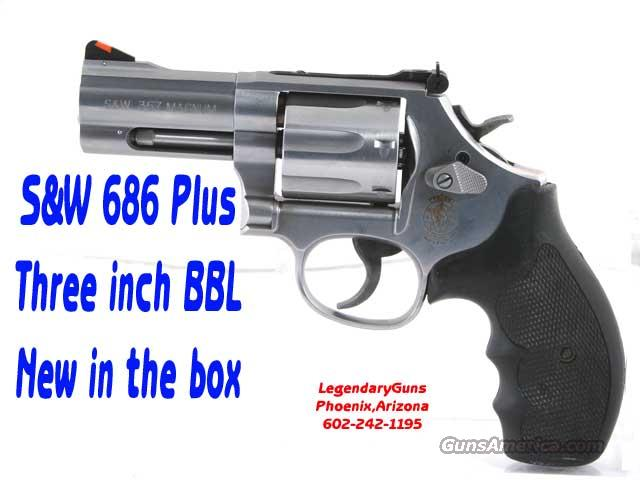 S&W Model 686+.357  3inch Stainless  Guns > Pistols > Smith & Wesson Revolvers > Full Frame Revolver