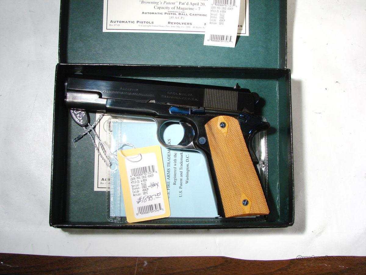 USFA 1910 .45ACP AS NEW IN BOX  Guns > Pistols > United States Patent Firearms Revolvers/Pistols