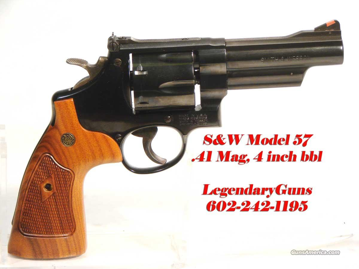 S&W Model 57 Classic 4 inch Blue .41 Mag   Guns > Pistols > Smith & Wesson Revolvers > Full Frame Revolver