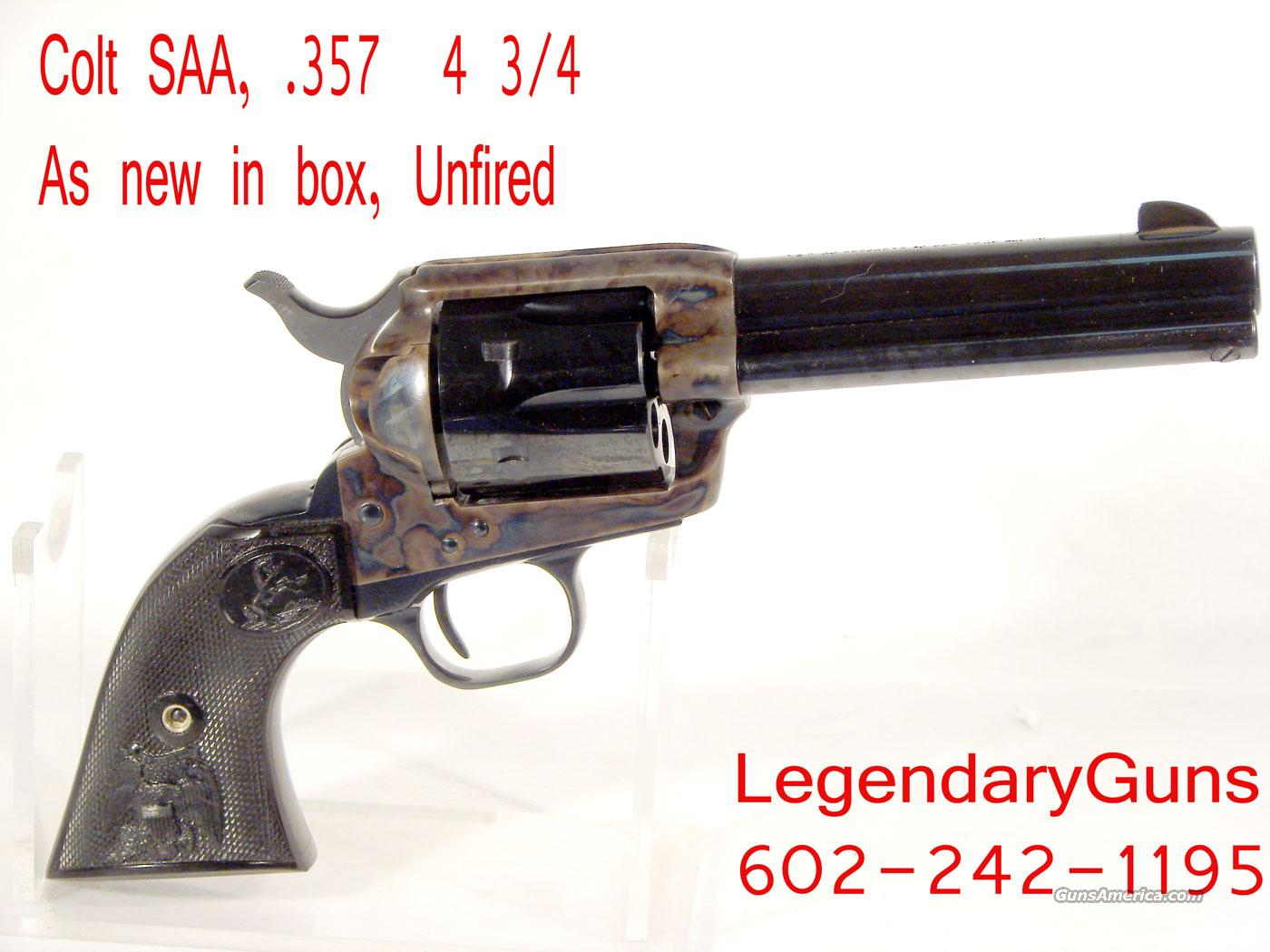 Colt SAA .357 As new in the box unfired  Guns > Pistols > Colt Single Action Revolvers - 3rd Gen.