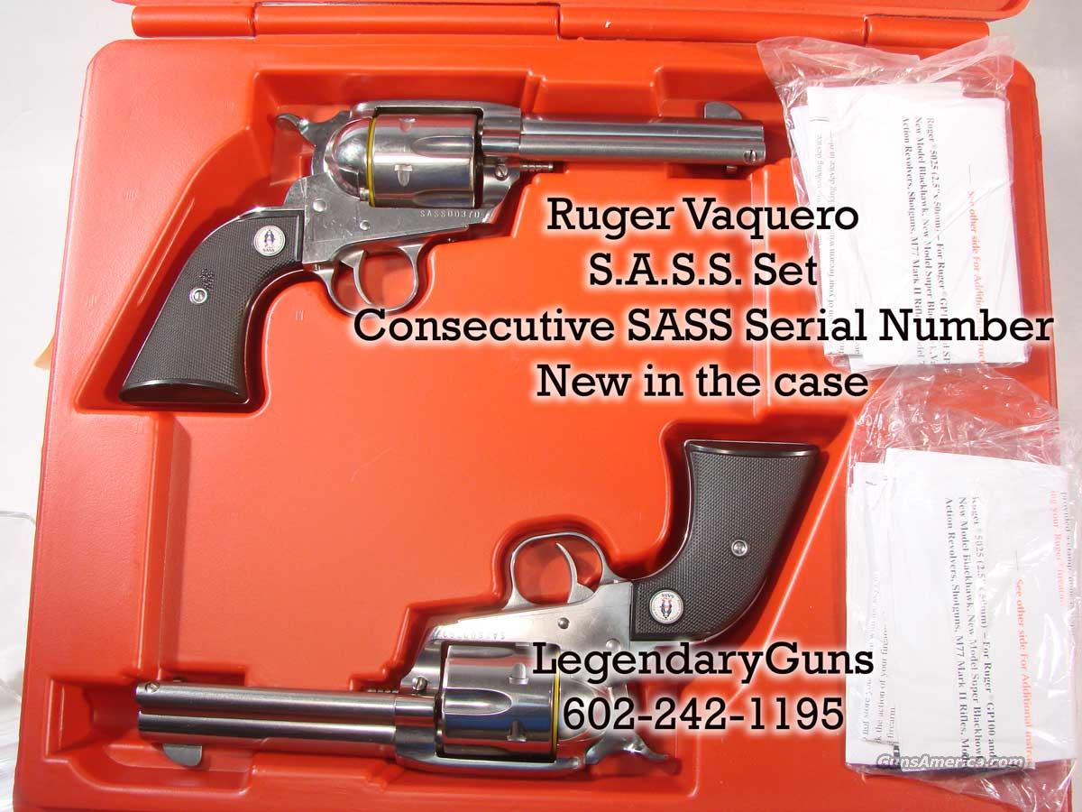 "Ruger Vaquero ""Set of SASS Stainless"" .357  Guns > Pistols > Ruger Single Action Revolvers > Cowboy Action"