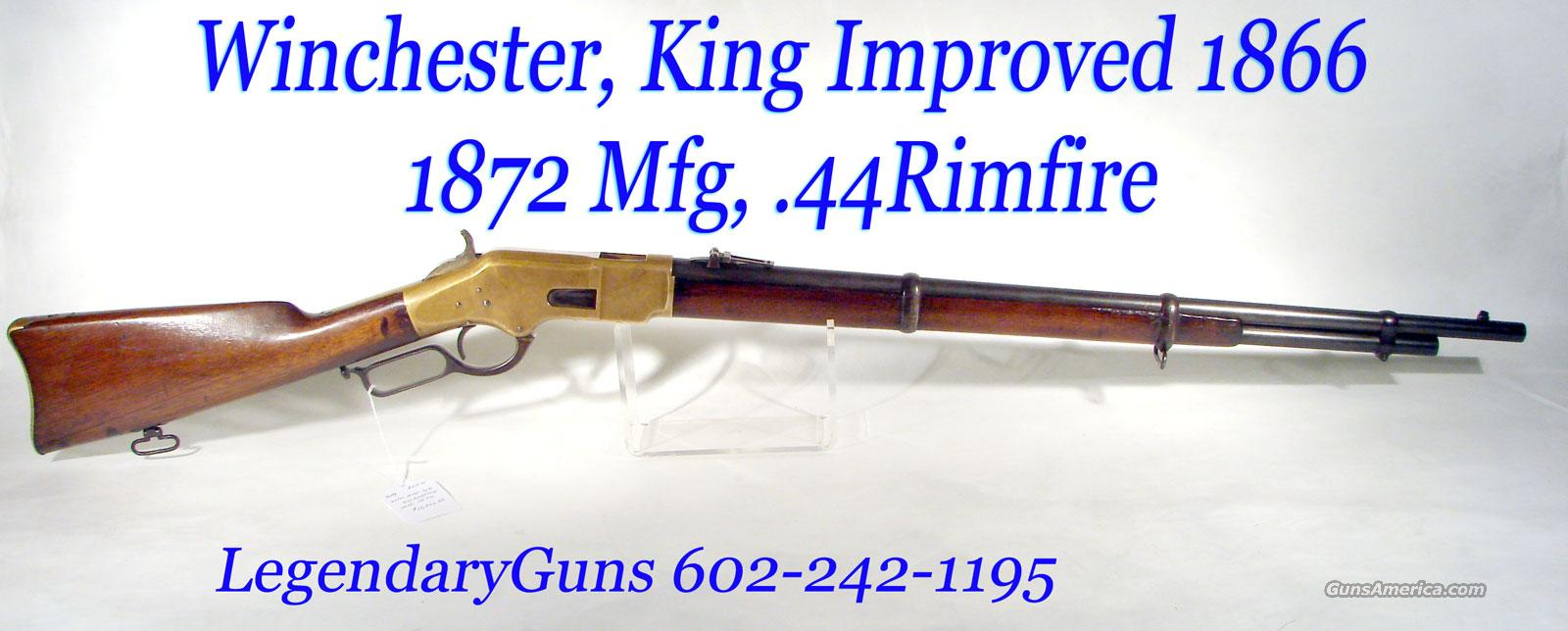 Winchester/Kings Improvement 1866 Musket, MFG 1872,  Guns > Rifles > Winchester Rifles - Pre-1899 Lever