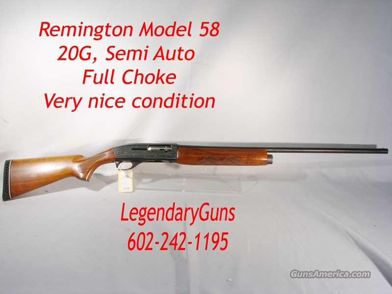 Remington 58 Sportsman  20G    Guns > Shotguns > Remington Shotguns  > Autoloaders > Hunting