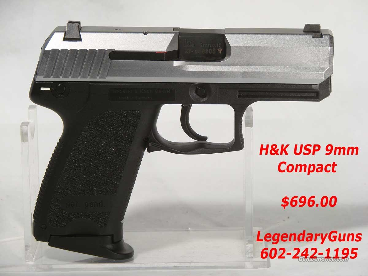 H&K USP 9mm Compact Two Tone for sale