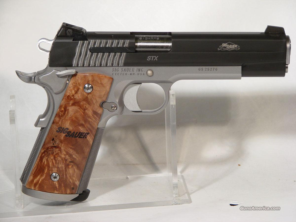Sig 1911STX .45 Stainless, Burl wood grips  Guns > Pistols > Sig - Sauer/Sigarms Pistols > 1911