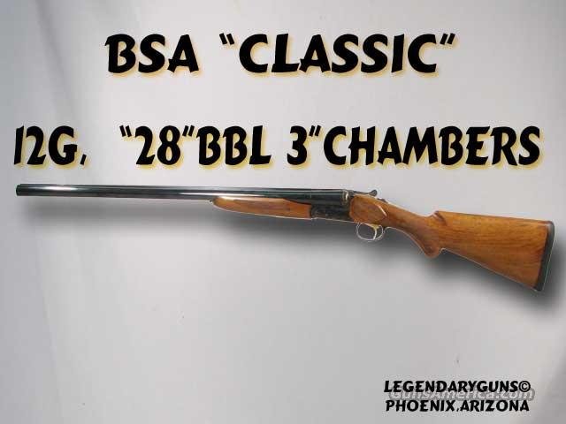 BSA SxS Classic 12g   Guns > Shotguns > BSA Shotguns