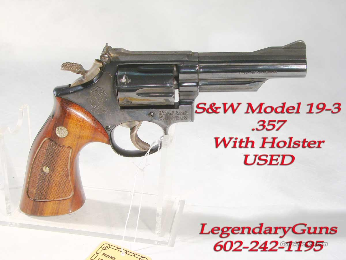 S&W Model 19-3 .357 With Holster  Guns > Pistols > Smith & Wesson Revolvers > Full Frame Revolver