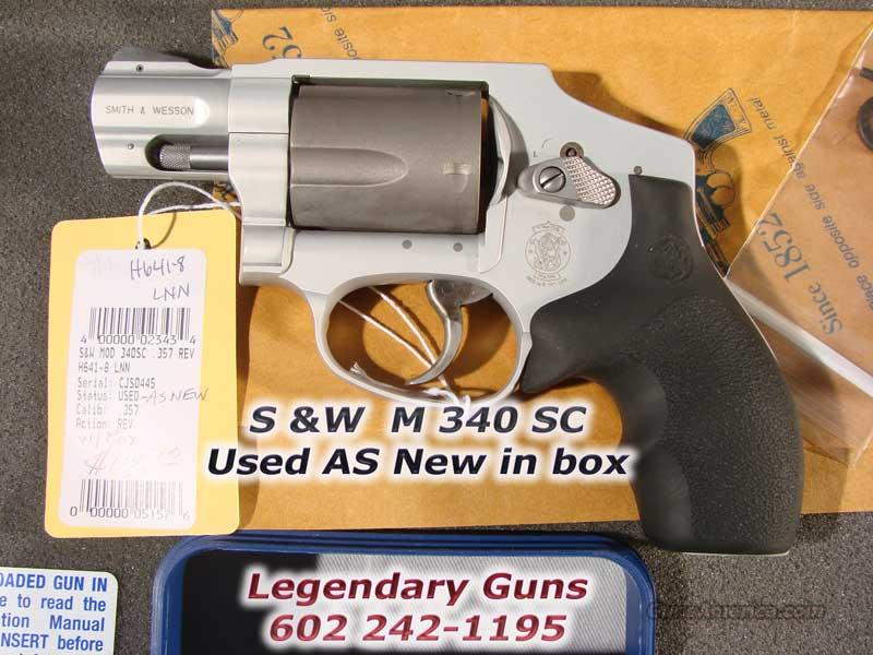 S&W Model 340 SC  .357  As New in Box  Guns > Pistols > Smith & Wesson Revolvers > Pocket Pistols