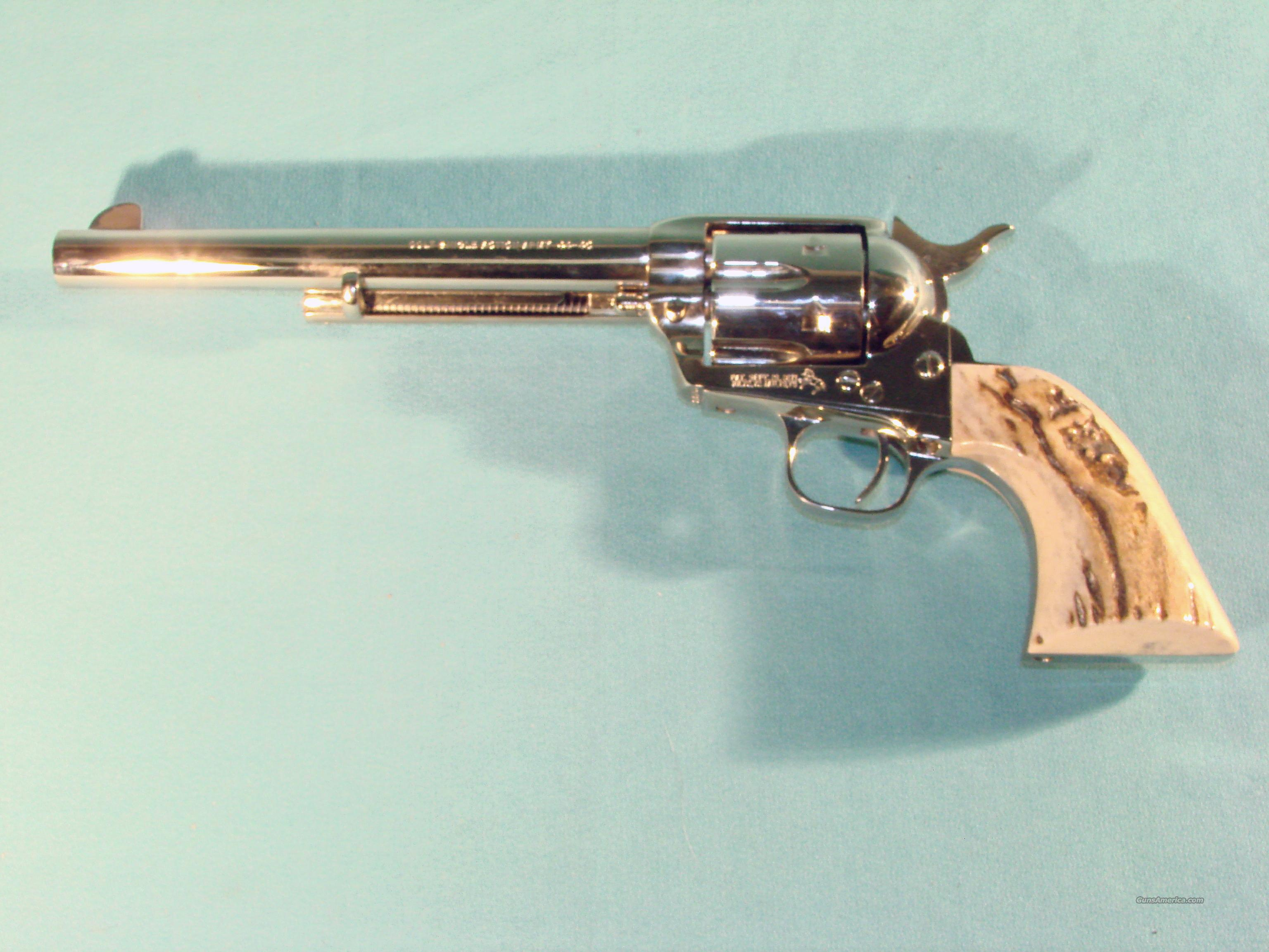 "Colt Single Action Army Nickel 44-40 7.5""  Guns > Pistols > Colt Single Action Revolvers - 3rd Gen."