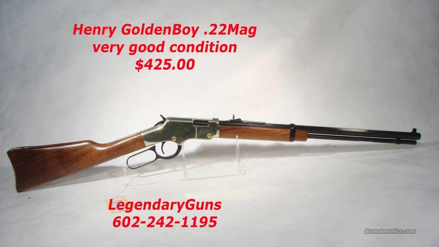 Henry Golden Boy .22 Mag Very good condition  Guns > Rifles > Henry Rifle Company