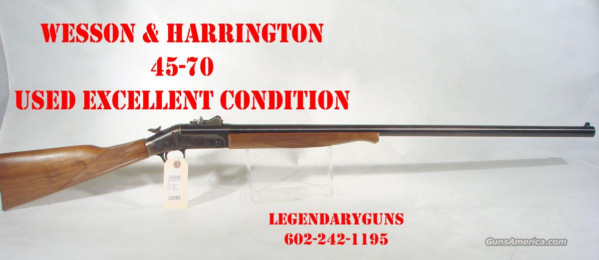 Wesson Harrington Single shot 45-70  Guns > Rifles > Harrington & Richardson Rifles