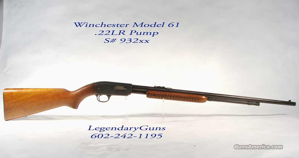 Winchester Model 61 .22 S,L, or LR   Guns > Rifles > Winchester Rifles - Modern Pump