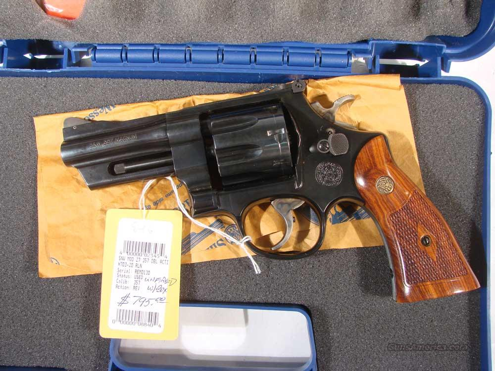 S&W Model 27 .357 Blue 4inch Unfired   Guns > Pistols > Smith & Wesson Revolvers > Full Frame Revolver