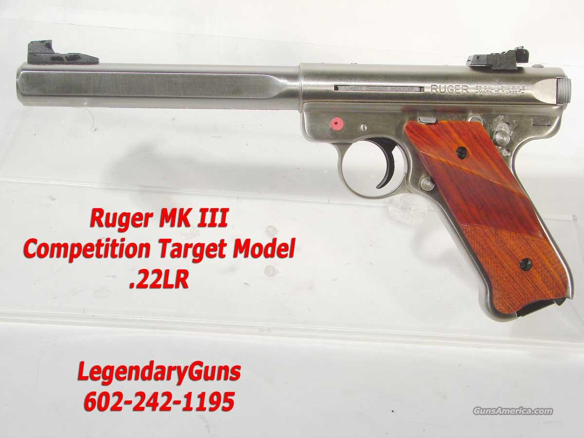 Ruger MK III  SS, 6  7/8th inch bbl .22LR  Guns > Pistols > Ruger Semi-Auto Pistols > Mark I & II Family