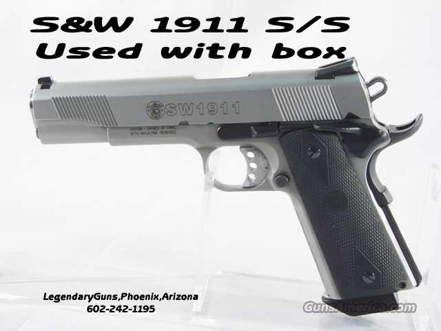 S&W 1911 Stainless .45 Government  Guns > Pistols > Smith & Wesson Pistols - Autos > Steel Frame