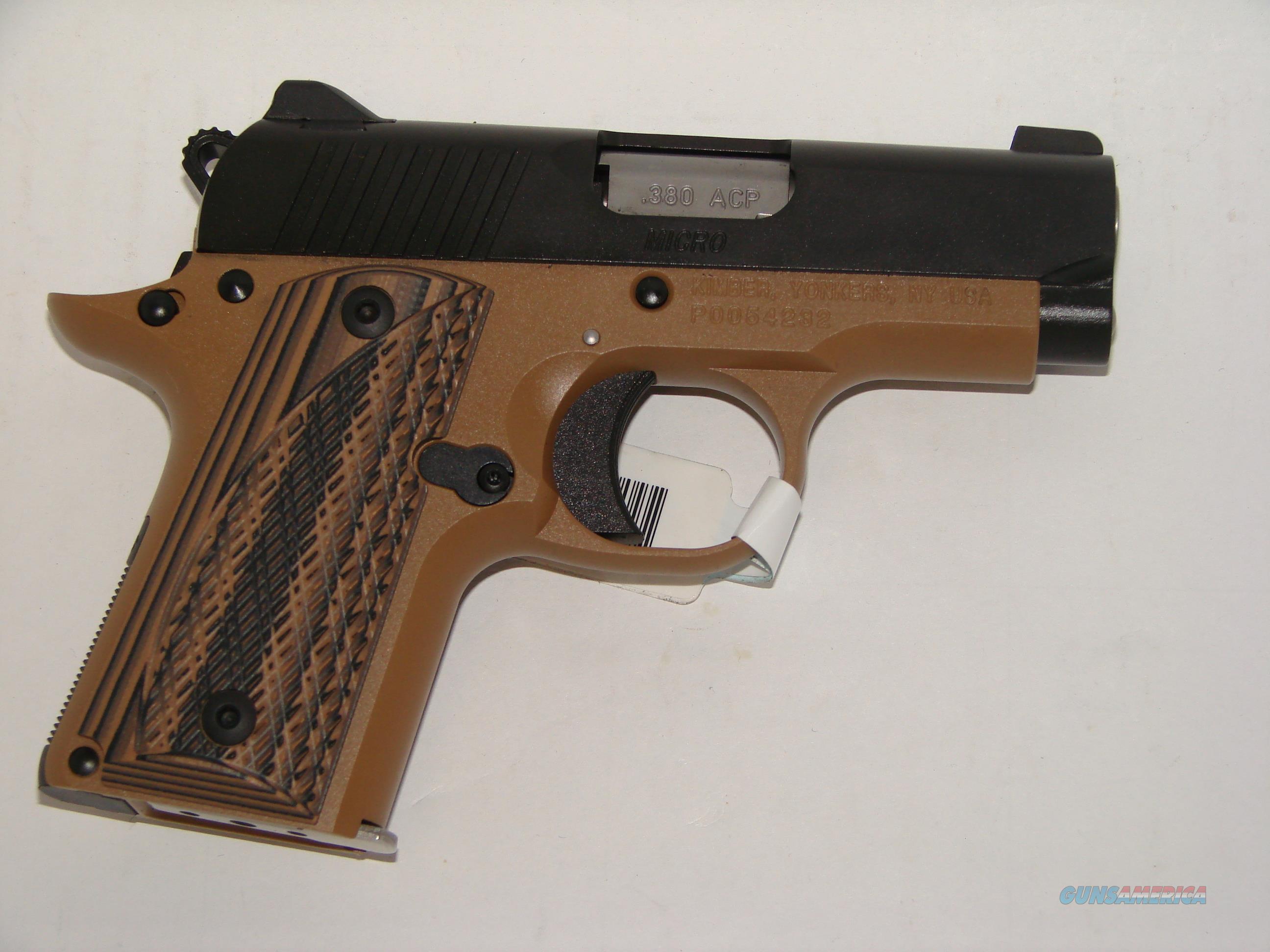 Kimber Micro 380 Desert Night Guns > Pistols >  Kimber of America Pistols > Micro