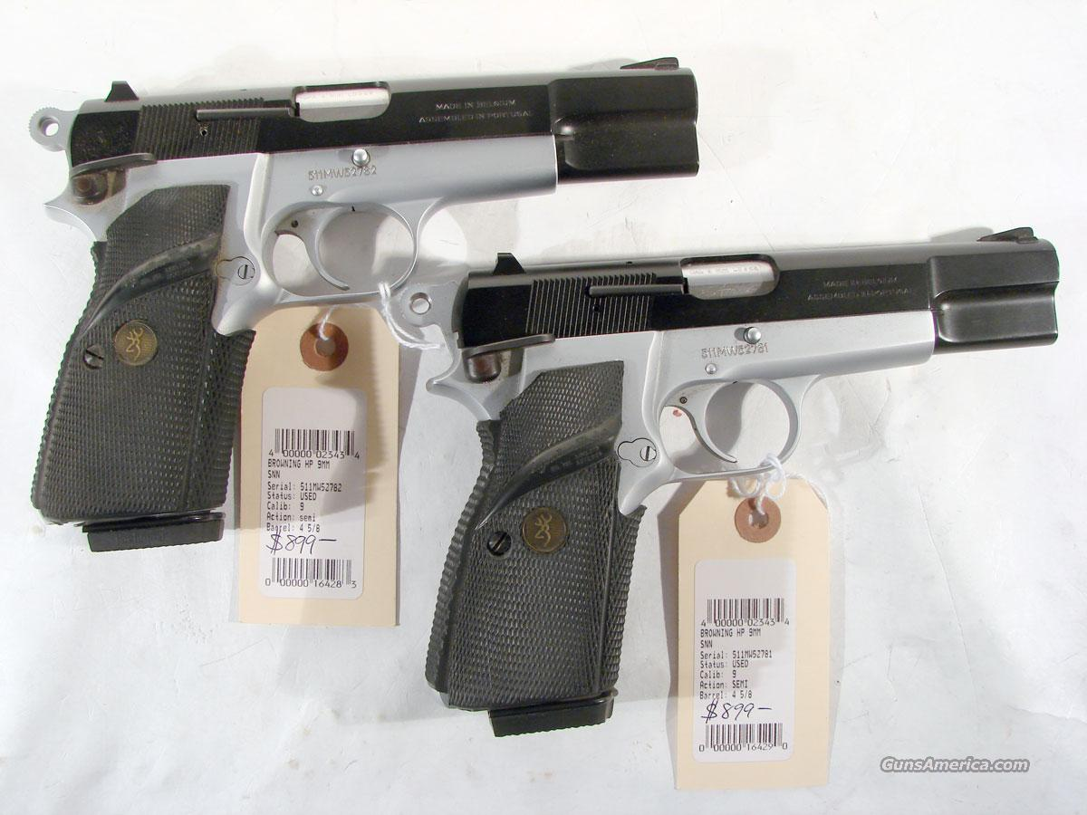Browning HiPower Two Tone. As New ( THE SET HAS BEEN BROKEN UP)  Guns > Pistols > Browning Pistols > Hi Power