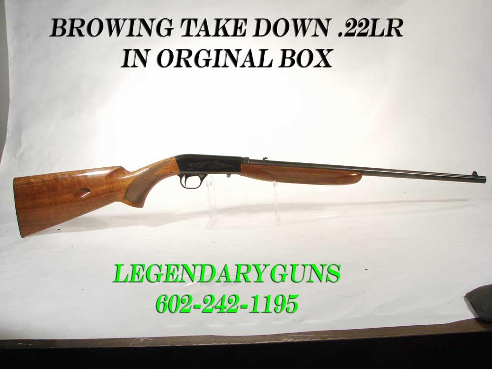 Browning Auto 22LR Blue, Take down    Guns > Rifles > Browning Rifles > Semi Auto > Hunting
