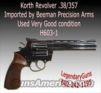 Korth Revolver .38/357 Imported by Beeman  K Misc Pistols