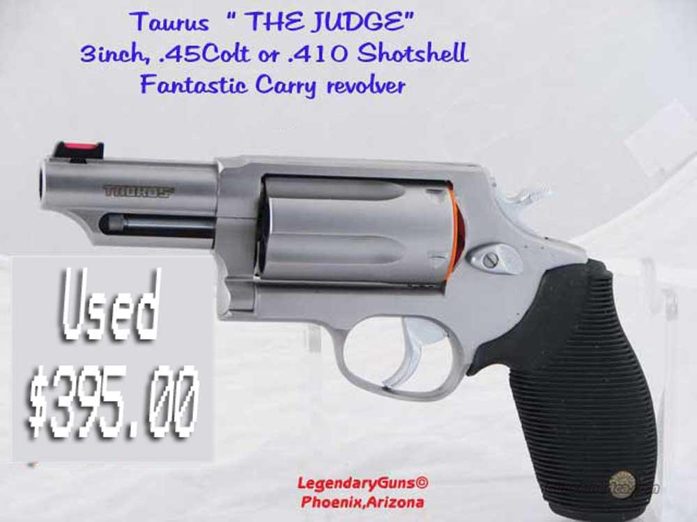 The Judge .45LC/.410  3 Inch Barrel  Guns > Pistols > Taurus Pistols/Revolvers > Revolvers