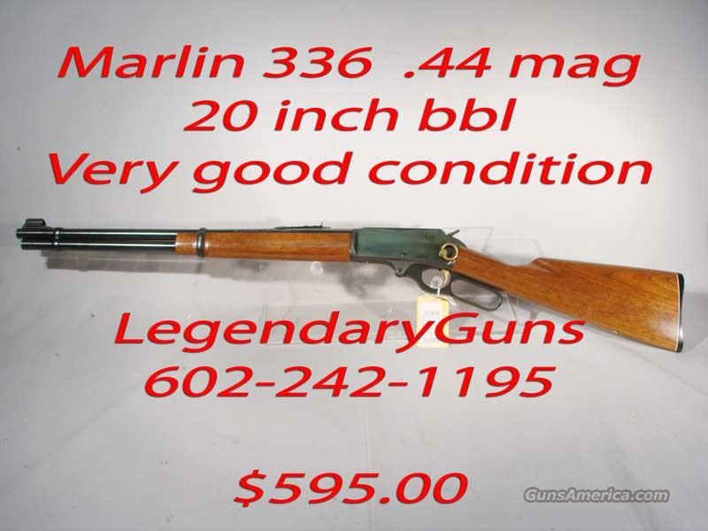 Marlin 336  20 inch .44 Mag,With Gold Saddle ring  Guns > Rifles > Marlin Rifles > Modern > Lever Action