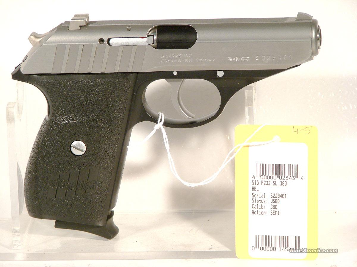 Sig P 232 SL Stainless .380  Guns > Pistols > Sig - Sauer/Sigarms Pistols > P232