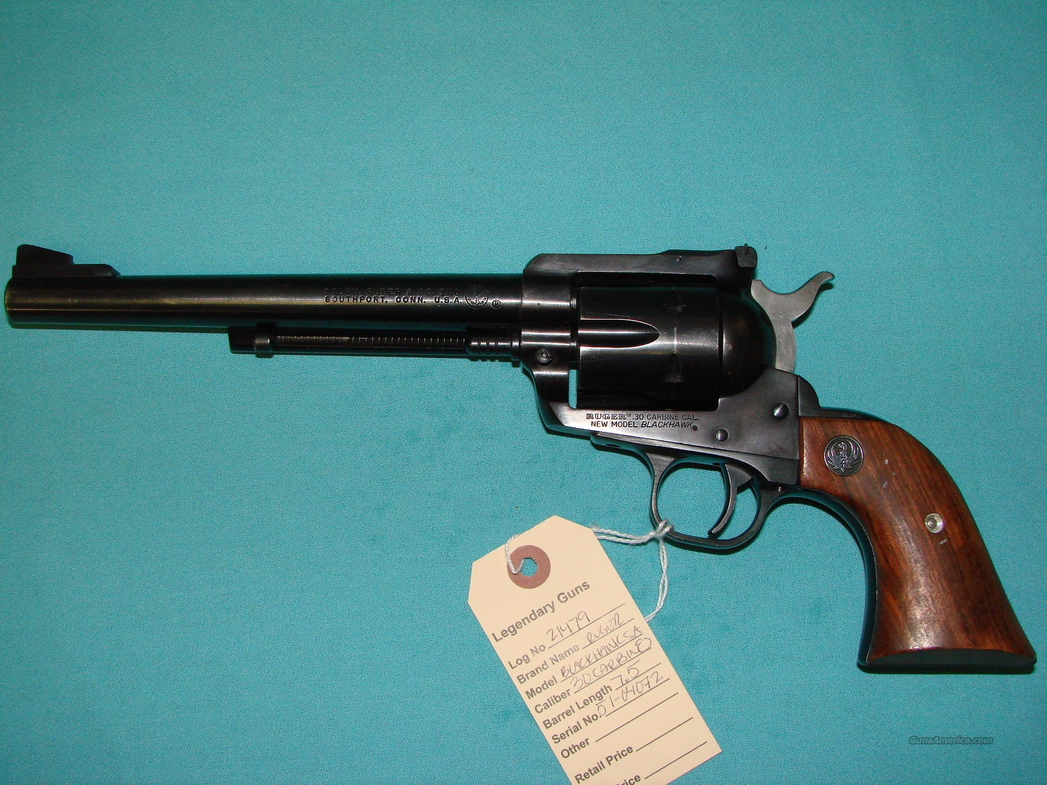 Ruger Blackhawk 30Carbine  Guns > Pistols > Ruger Single Action Revolvers > Blackhawk Type