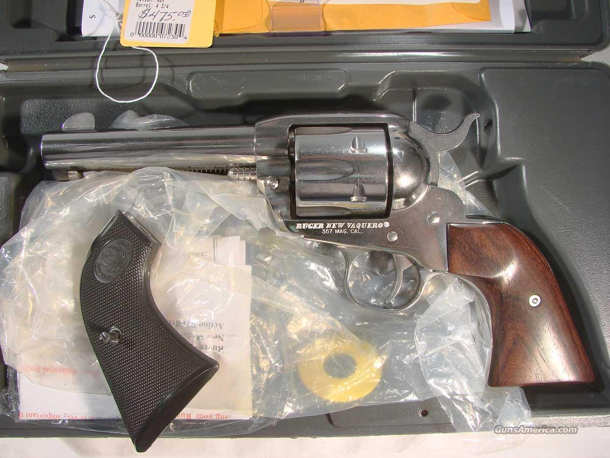 Ruger Vaquero .357 Stainless  4 3/4   Guns > Pistols > Ruger Single Action Revolvers > Cowboy Action