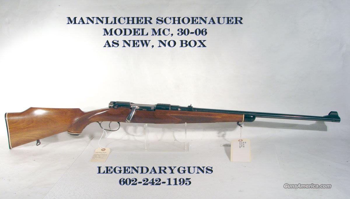 Mannlicher Schoenauer 30-06 Model MC, As new Unfired  Guns > Rifles > Mannlicher-Schoenauer Rifles