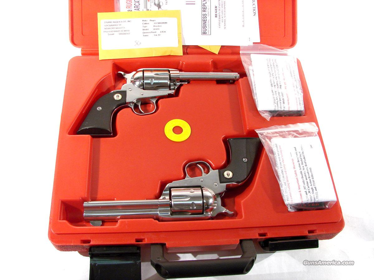 Ruger SASS New Vaquero Set .357 consecutive serial 57/58  Guns > Pistols > Ruger Single Action Revolvers > Cowboy Action