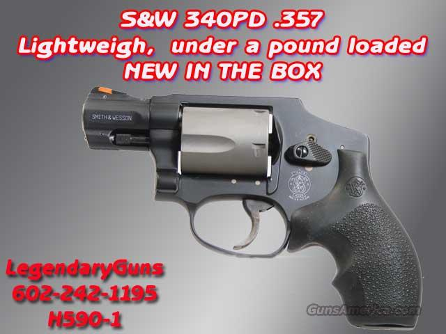 S&W M-340PD .357 Airweight, New  Guns > Pistols > Smith & Wesson Revolvers > Pocket Pistols