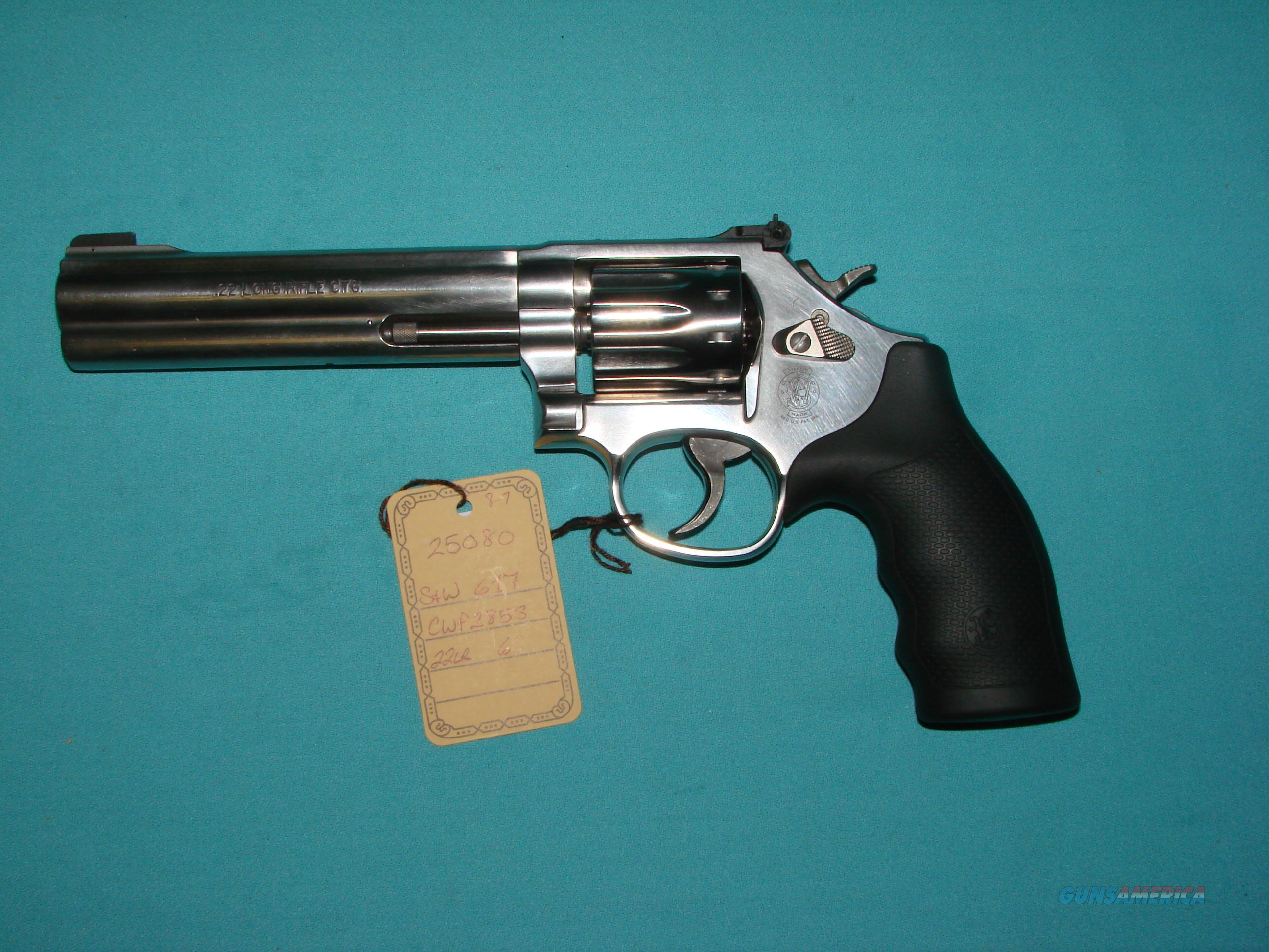 S&W 617-6 22LR  Guns > Pistols > Smith & Wesson Revolvers > Full Frame Revolver