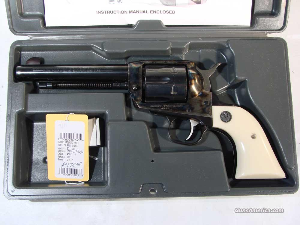 Ruger Old Vaquero .45LC 5 1/2 blue Faux Ivory Grip   Guns > Pistols > Ruger Single Action Revolvers > Cowboy Action