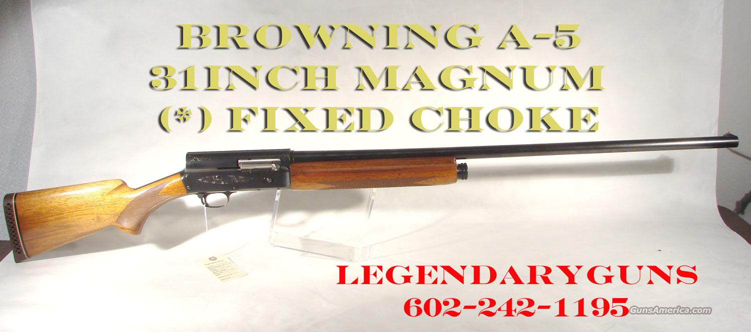 Browning A-5 Semi Auto 12G MAGNUM As New  Guns > Shotguns > Browning Shotguns > Autoloaders > Hunting