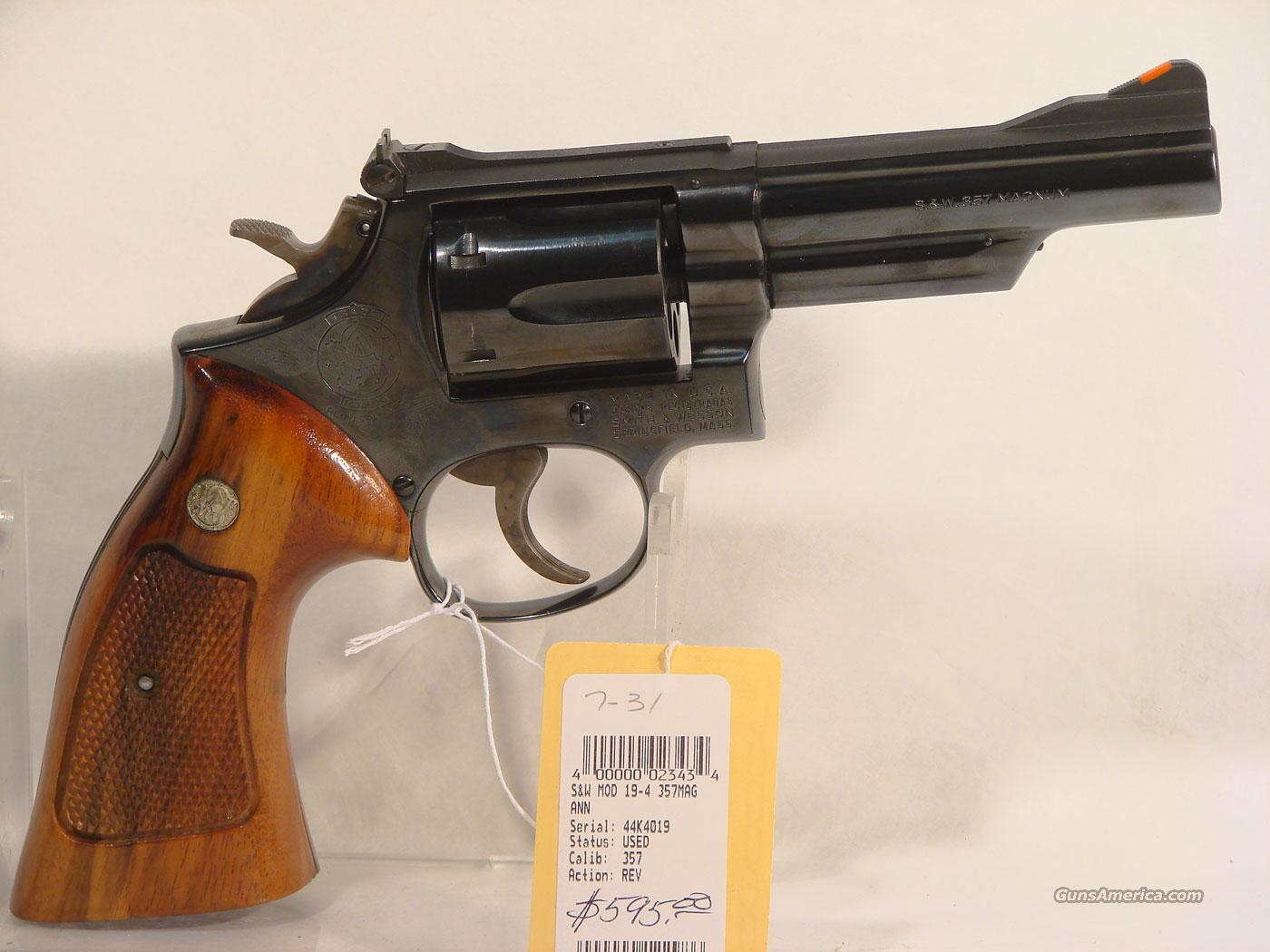 S&W Model 19-4 .357, Excellent condition  Guns > Pistols > Smith & Wesson Revolvers > Full Frame Revolver