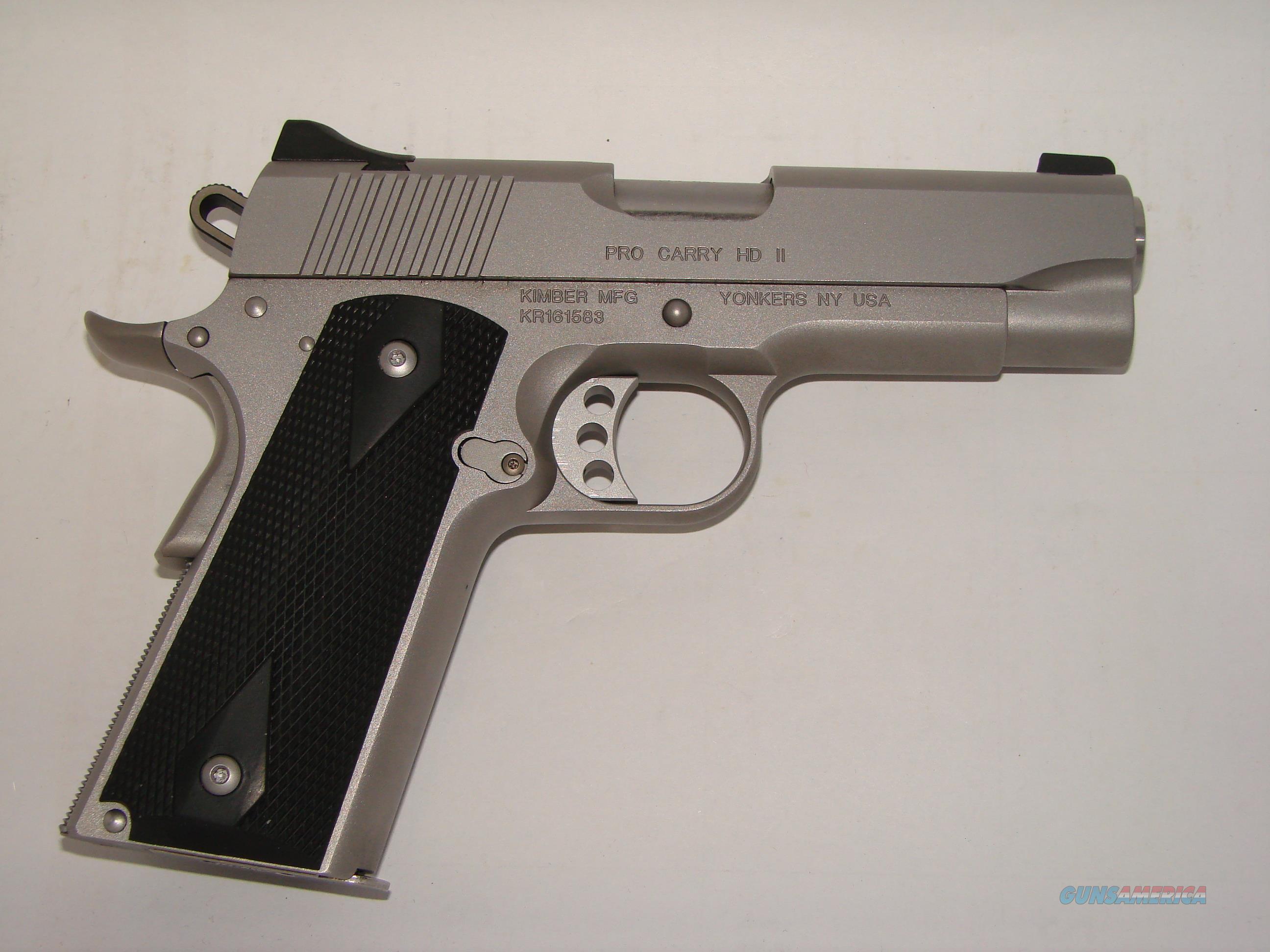 Kimber Pro Carry HD II  Guns > Pistols > Kimber of America Pistols