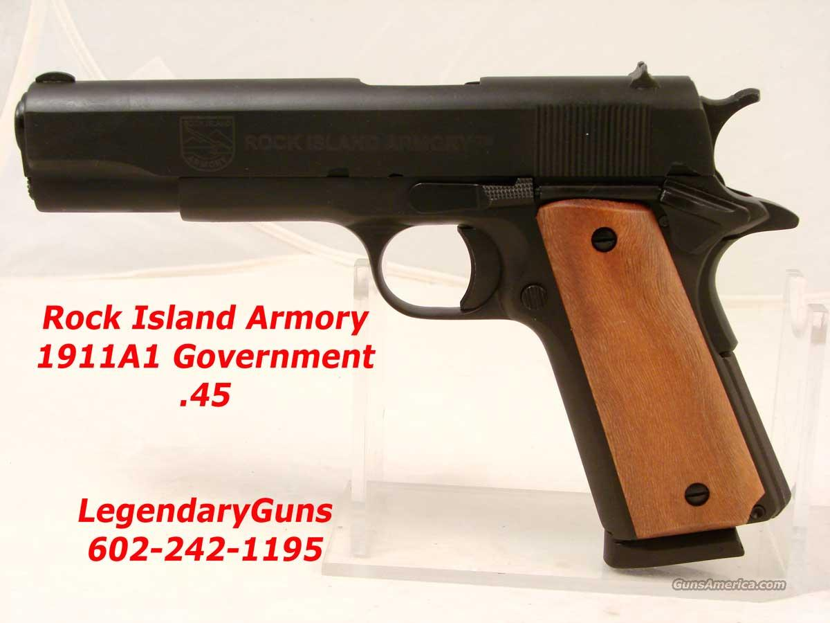 Rock Island 1911A Government Model Basic  Guns > Pistols > Rock River Arms Pistols