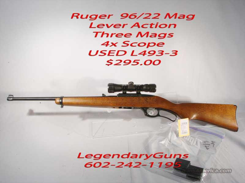 Ruger 96/22  .22Mag Lever Action 3 Mags  Guns > Rifles > Ruger Rifles > Lever Action