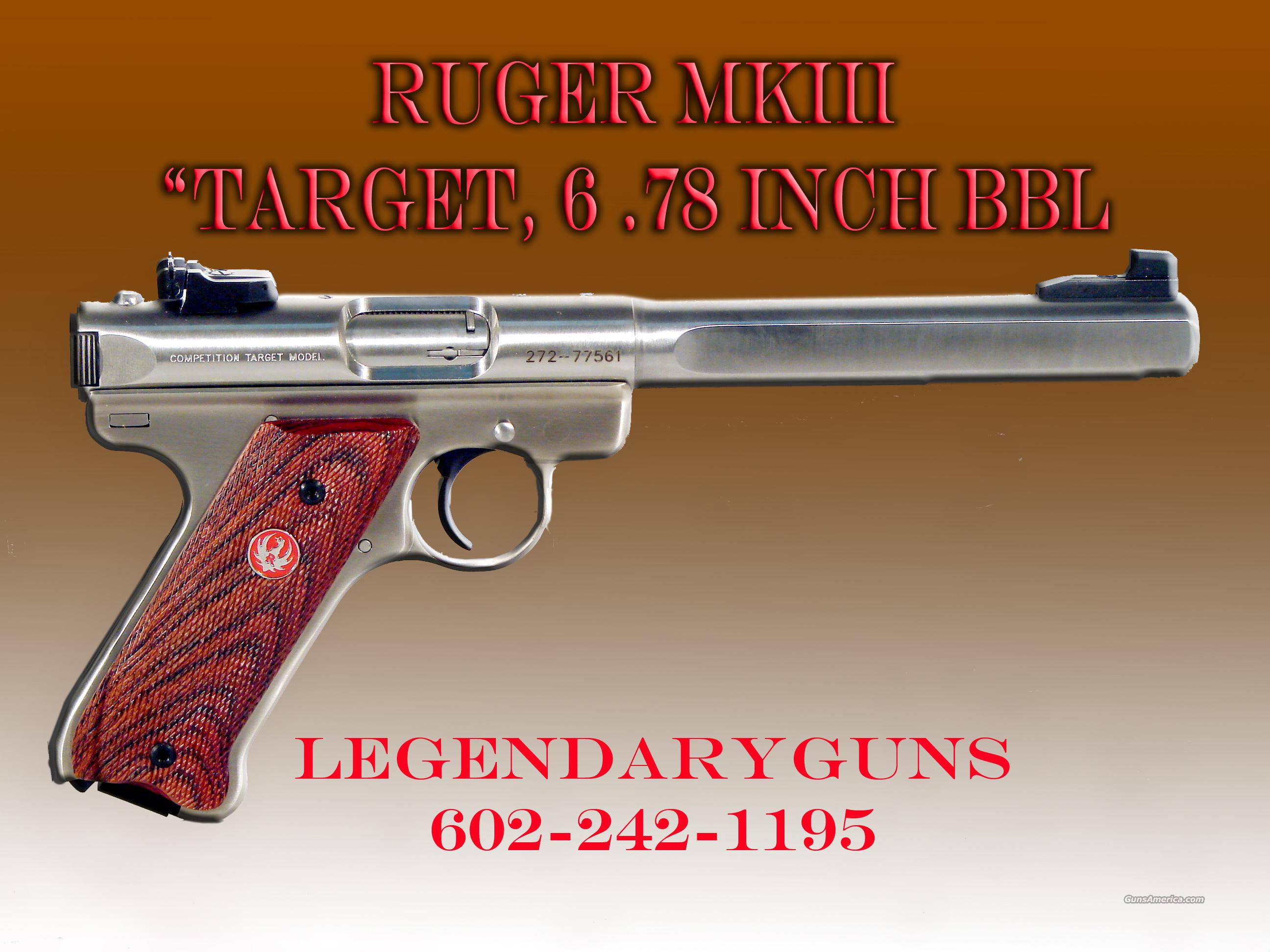 Ruger MK III SS, Slab side Target. New in box  Guns > Pistols > Ruger Semi-Auto Pistols > Mark I & II Family