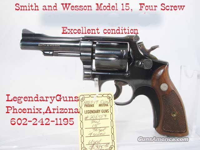 S&W M-15 4 Screw  Excellent condition  Guns > Pistols > Smith & Wesson Revolvers > Pocket Pistols