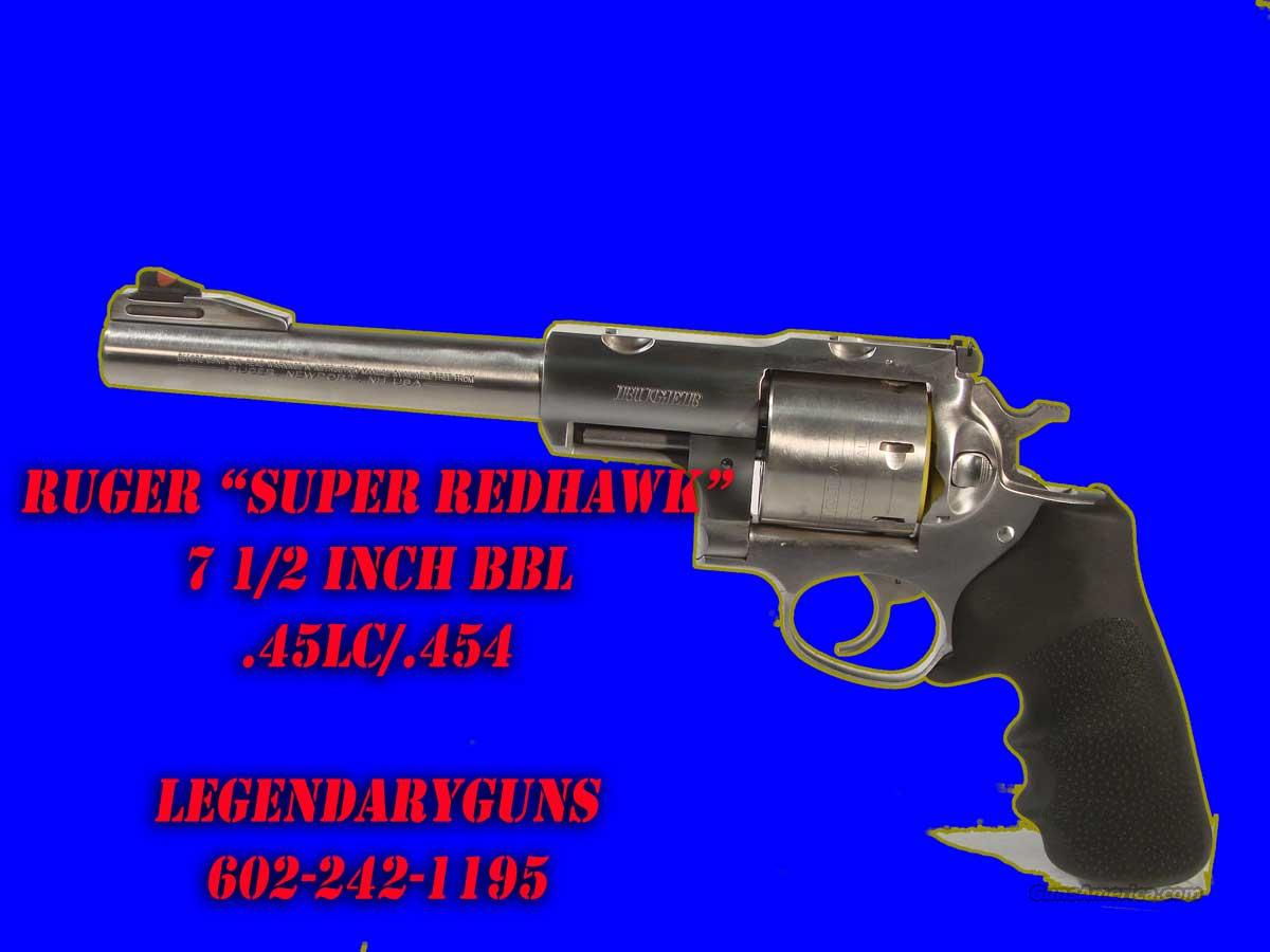 Ruger Super Redhawk .454  71/2 inch bbl  Guns > Pistols > Ruger Double Action Revolver > Redhawk Type