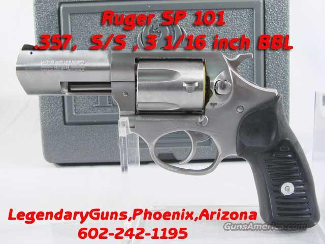 Ruger Sp101 .357  3 1/6 inch BBL  Guns > Pistols > Ruger Double Action Revolver > SP101 Type