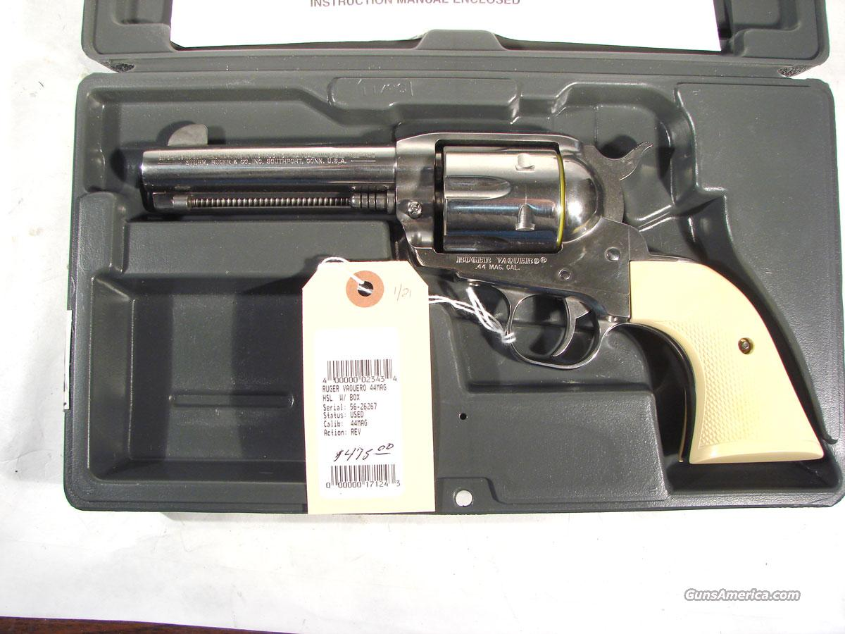 "Ruger ""Vaquero"" old style Stainless 4 3/4   Guns > Pistols > Ruger Single Action Revolvers > Cowboy Action"