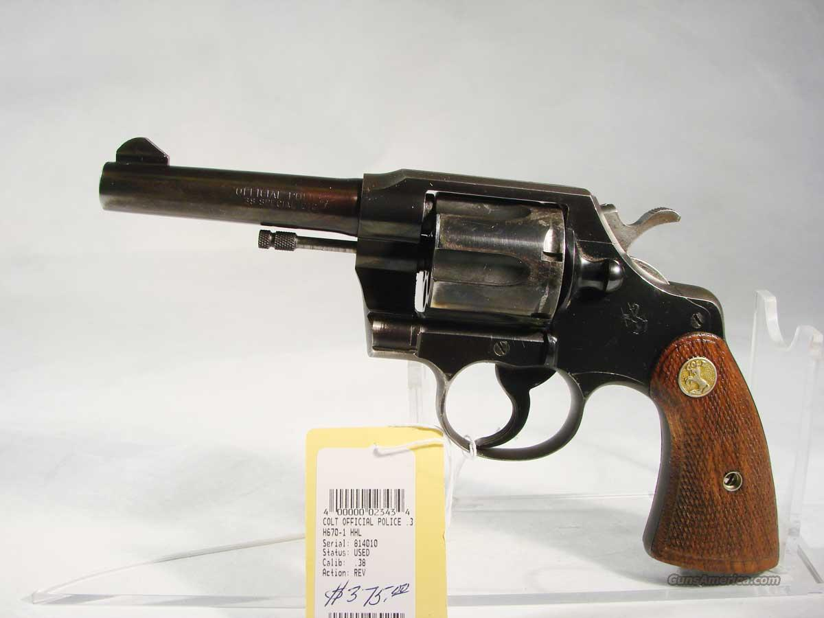 Colt Offical Police .38 Spl 4 inch Used  Guns > Pistols > Colt Double Action Revolvers- Modern